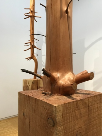 Carved trees at the Pompidou